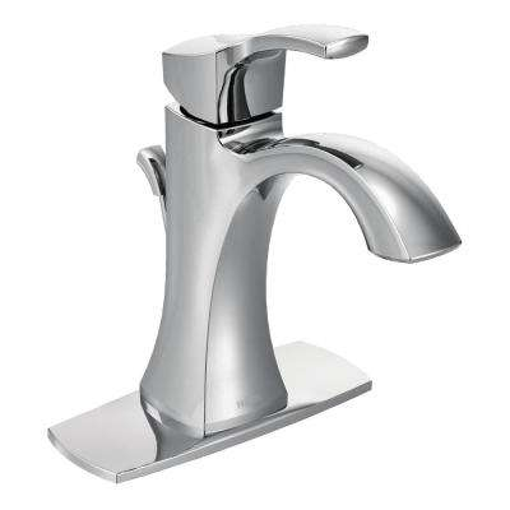 Voss Single Hole Single Handle High-Arc Bathroom Faucet in Chrome