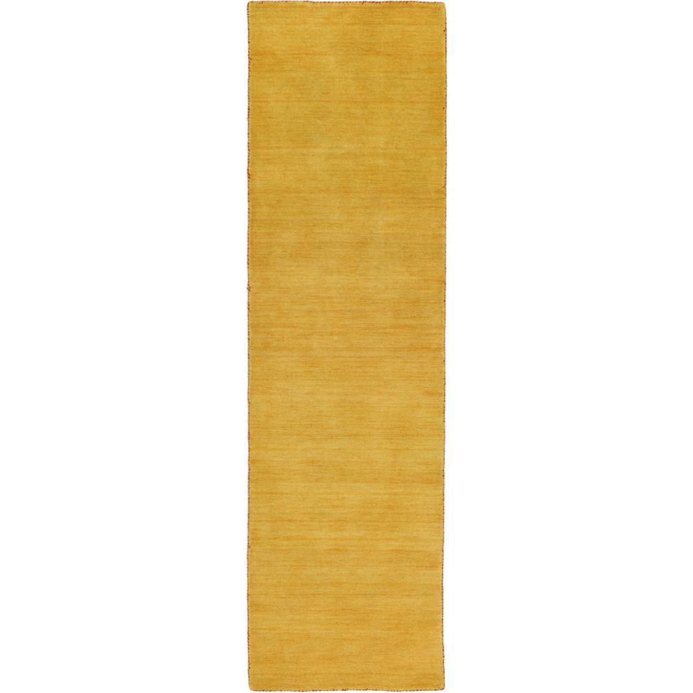 Solid Gava Solid Gold 2' 7 x 9' 10 Runner Rug