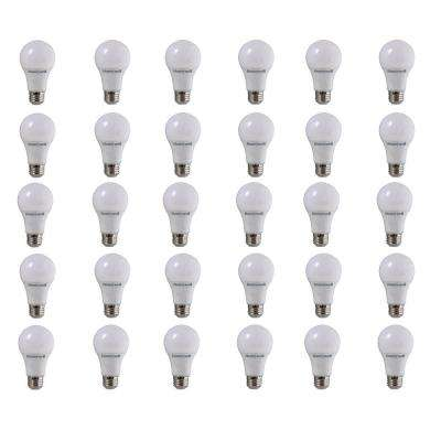 40 W Equivalent Warm White A19 Dimmable LED Light Bulb (30-Pack)