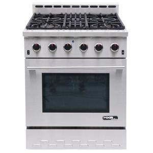 NXR Entree 30 inch 4.5 cu. ft. Professional Style Gas Range with Convection Oven in Stainless Steel by NXR