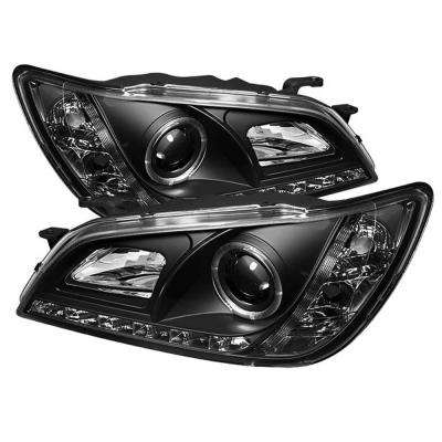 Lexus IS300 01-05 Projector Headlights - Xenon/HID Model Only - LED Halo - DRL - Black