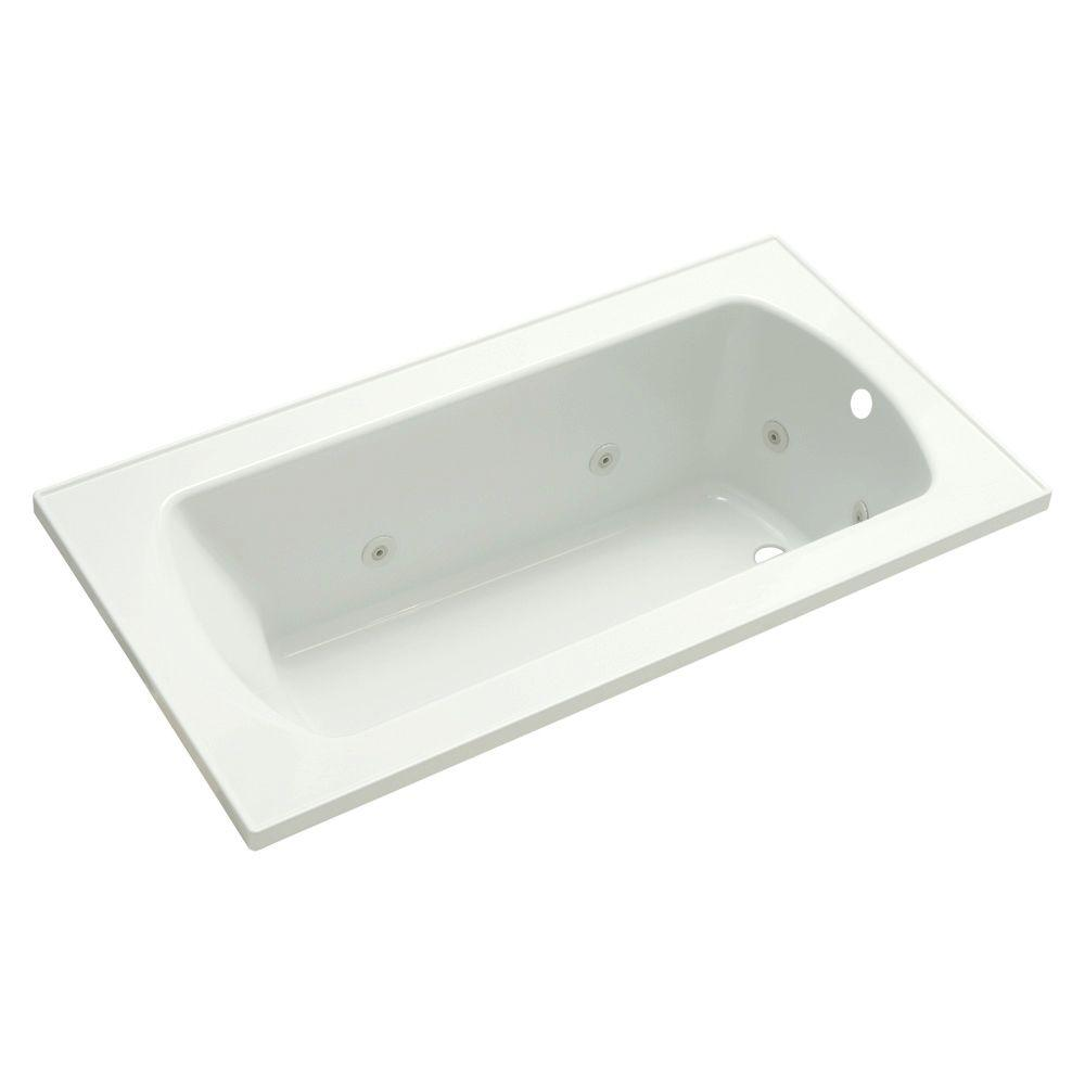 STERLING Lawson 5 ft. Rectangular Drop-in Whirlpool Bathtub in White