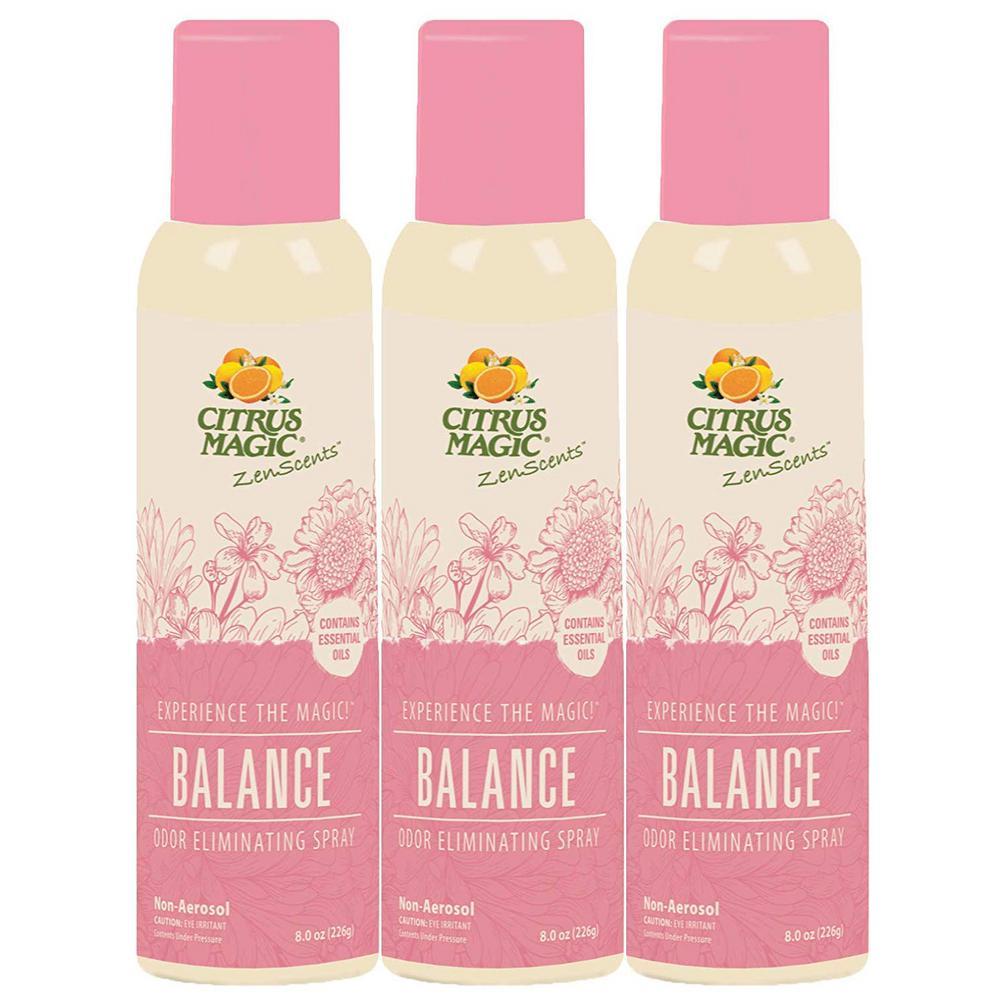 Citrus Magic 8 oz. ZenScents Aromatherapy Spray Air Freshener, Balance (Pack of 3)