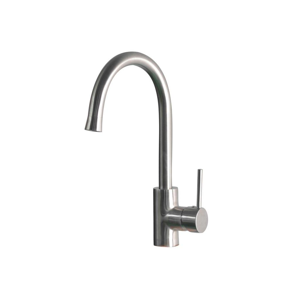 Stainless Steel Kitchen Mono Faucet Button