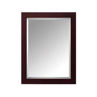 Modero 24 in. W x 1.3 in. D x 30 in. H Single Framed Wall Mirror in Espresso