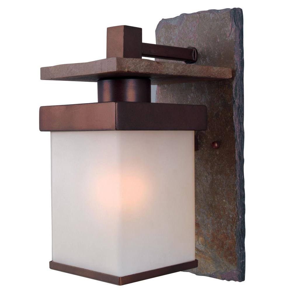 Kenroy home boulder copper outdoor large wall mount lantern kenroy home boulder copper outdoor large wall mount lantern 70282cop the home depot amipublicfo Images