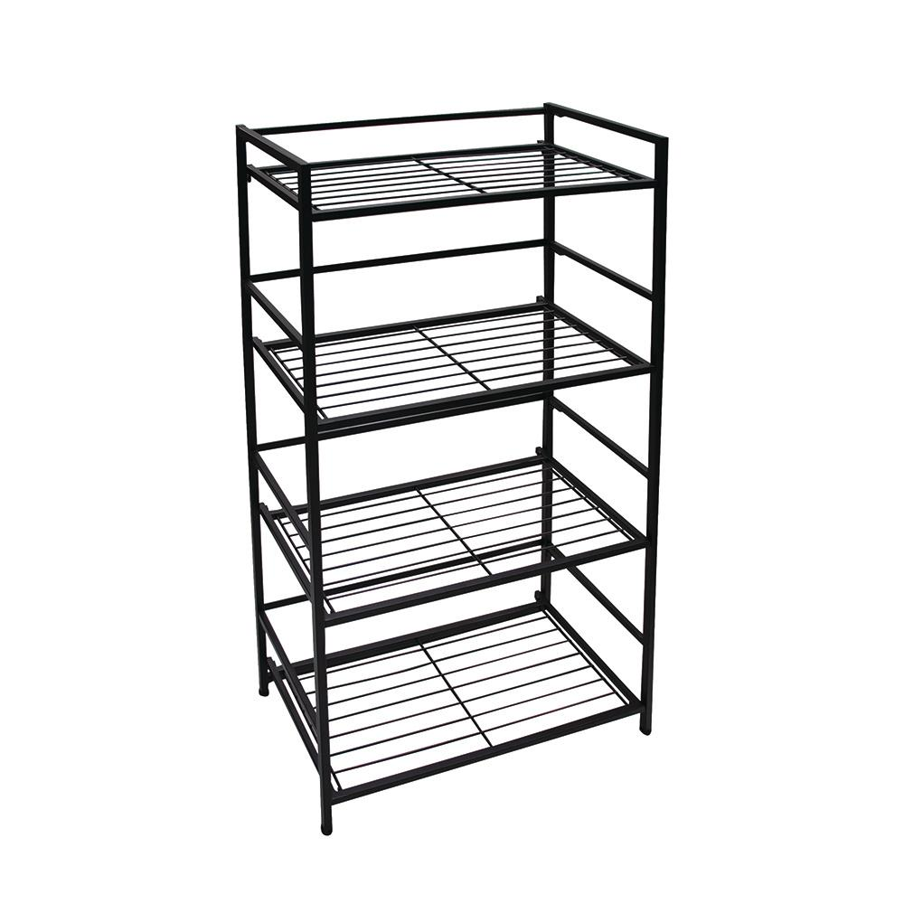 4-Shelf Wide 26.5 in. W x 43 in. H x 12
