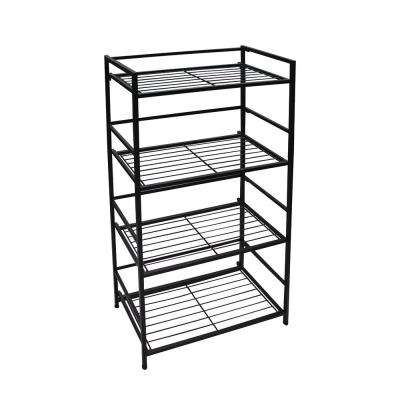 4-Shelf Wide 26.5 in. W x 43 in. H x 12 in. D Steel Shelf