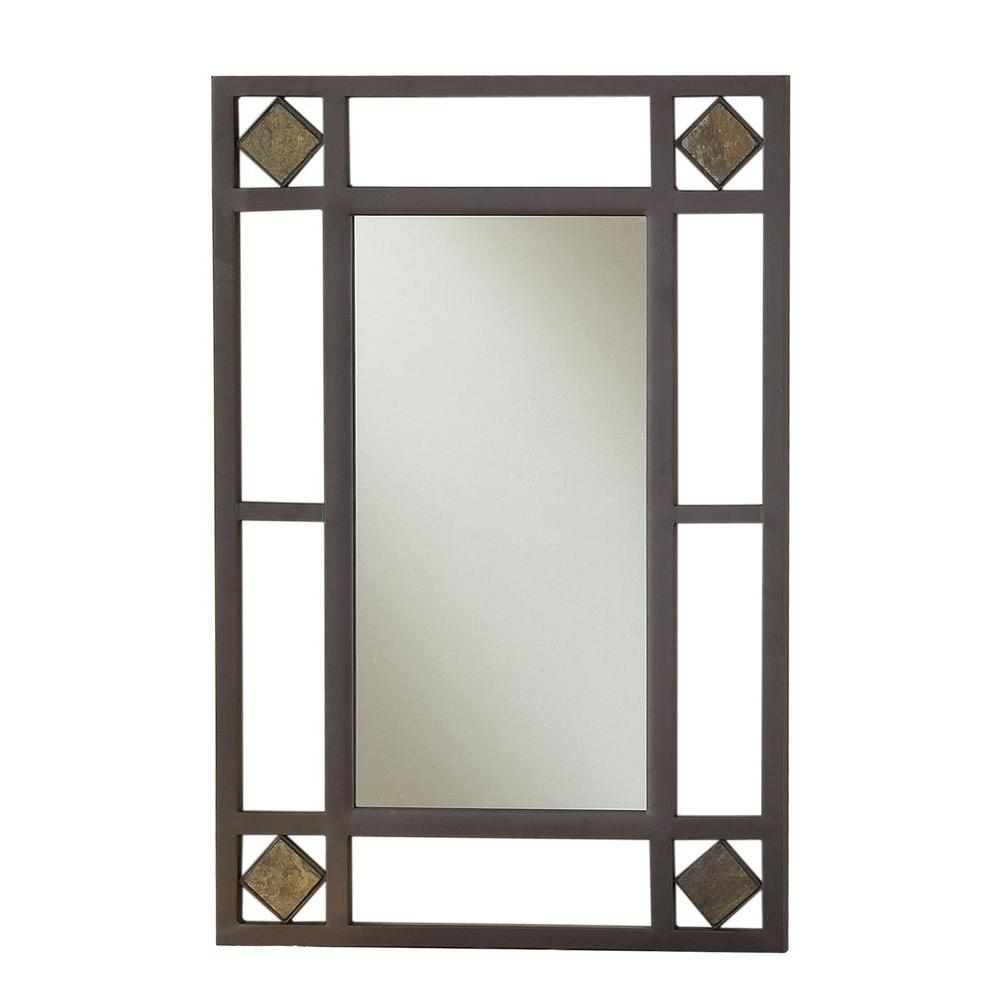 Hillsdale Furniture Lakeview 30 in. x 20 in. Metal Framed Console Mirror
