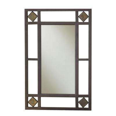 Lakeview 30 in. x 20 in. Metal Framed Console Mirror