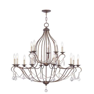 Providence 15-Light Venetian Golden Bronze Incandescent Ceiling Chandelier