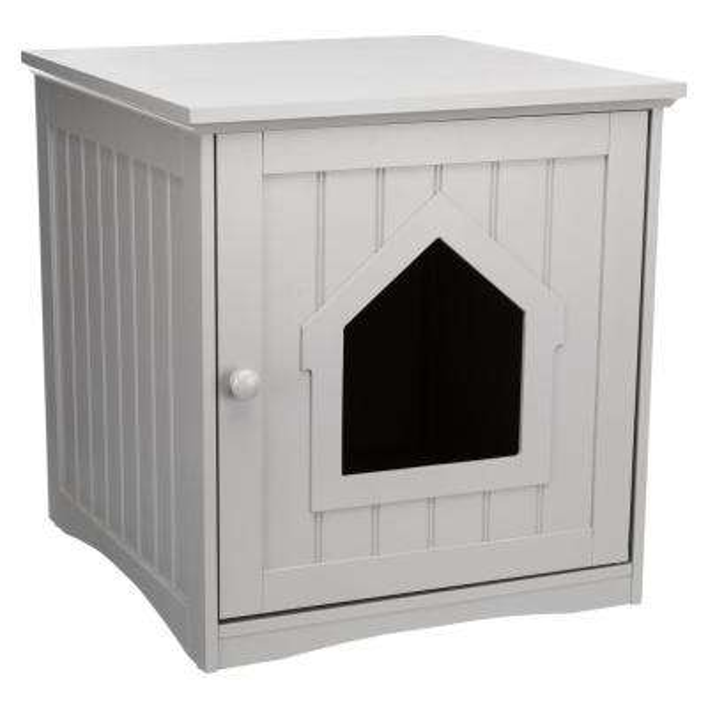 Standard Wooden Litter Box Enclosure in Gray