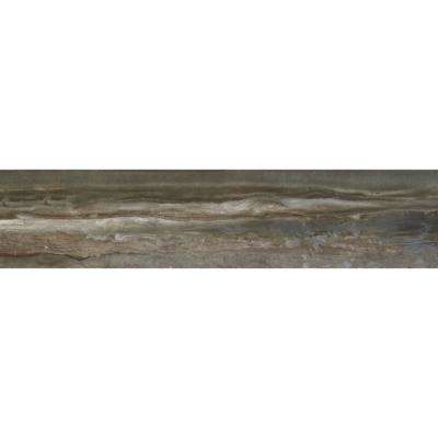 Sanford Smoke Polished 8 in. x 36 in. Color Body Porcelain Floor and Wall Tile (11.4 sq. ft. / case)