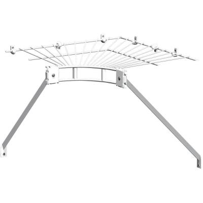Ventilated Wire Corner Shelf for 12 in. Shelf and Rod Shelving