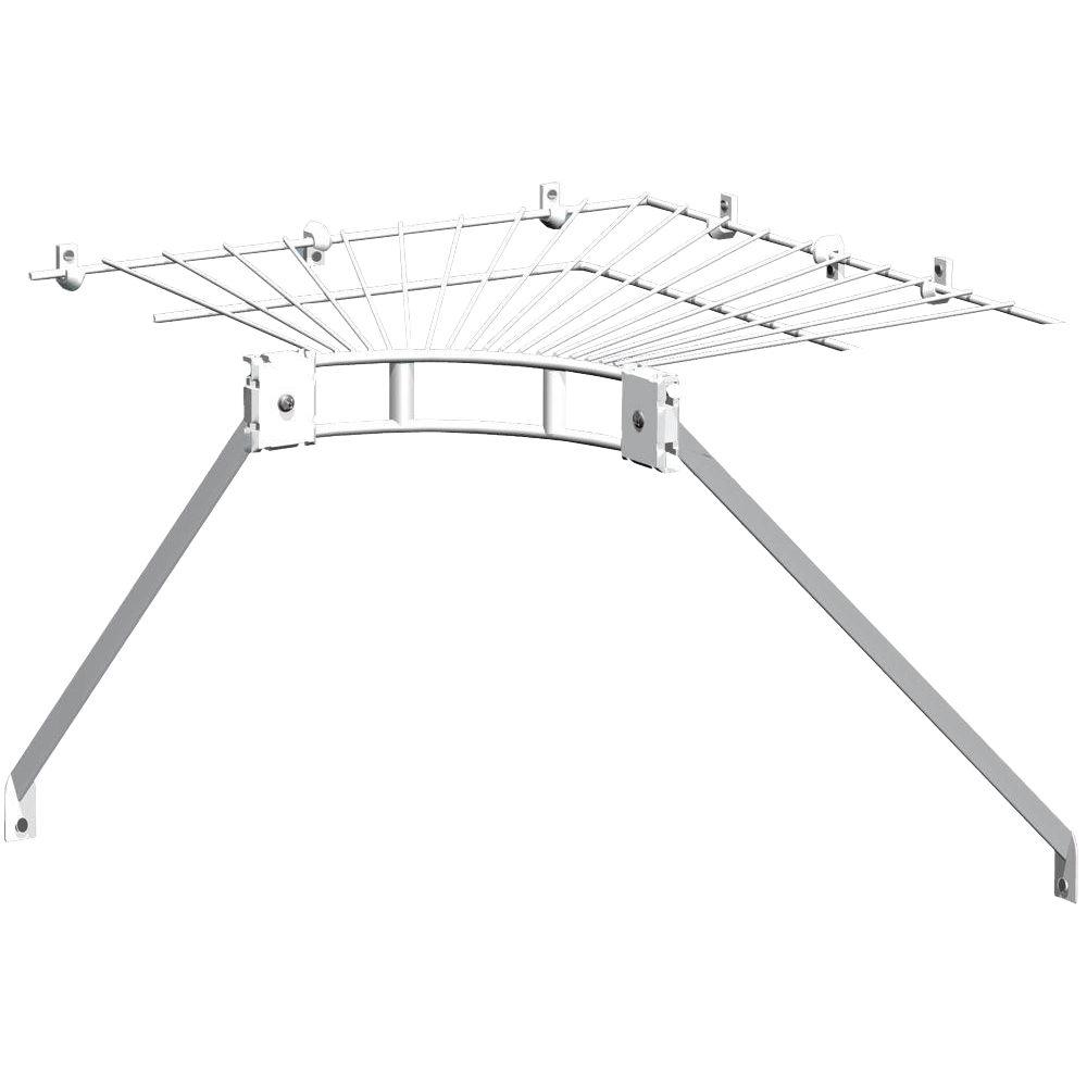Closetmaid Ventilated Wire Corner Shelf For 12 In Shelf And Rod Shelving