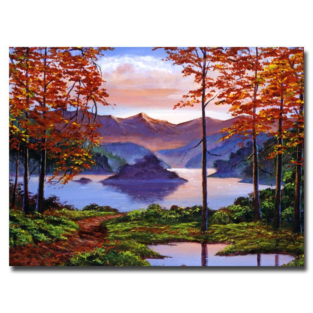 Trademark Fine Art 24 in. x 32 in. Sunset Reverie Canvas Art