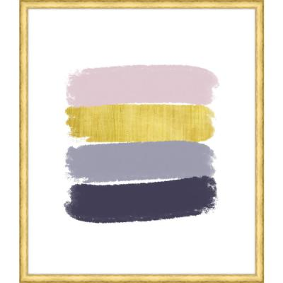 """37 in. x 32 in. """"Paint Swashes II"""" Framed Giclee Print Wall Art"""
