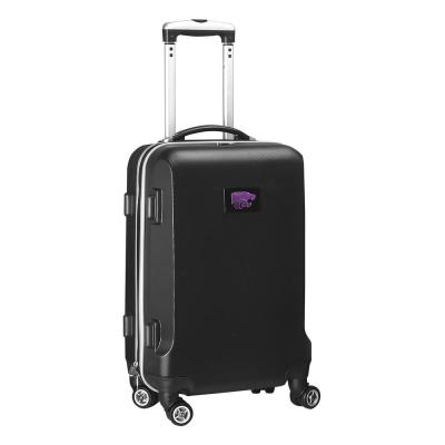 Denco NCAA Kansas State 21 in. Black Carry-On Hardcase Spinner Suitcase