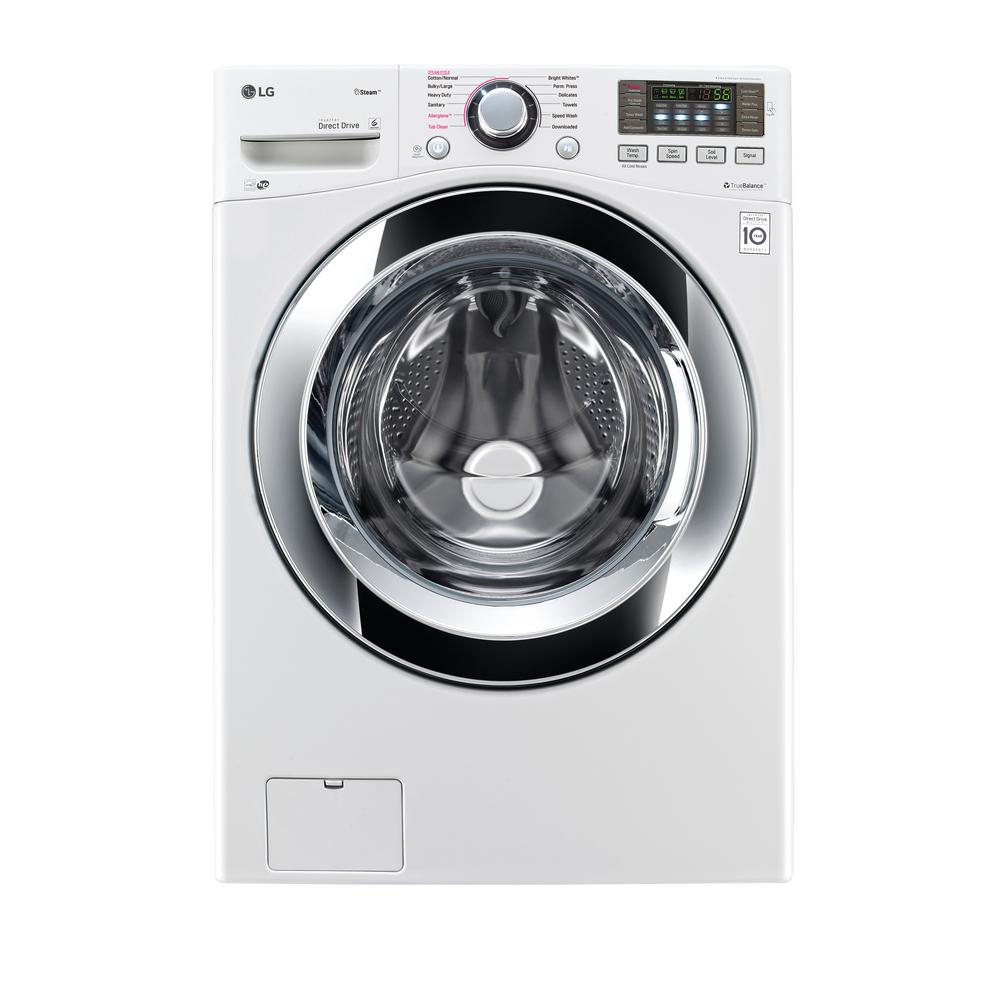 High Efficiency Front Load Washer With Steam In White