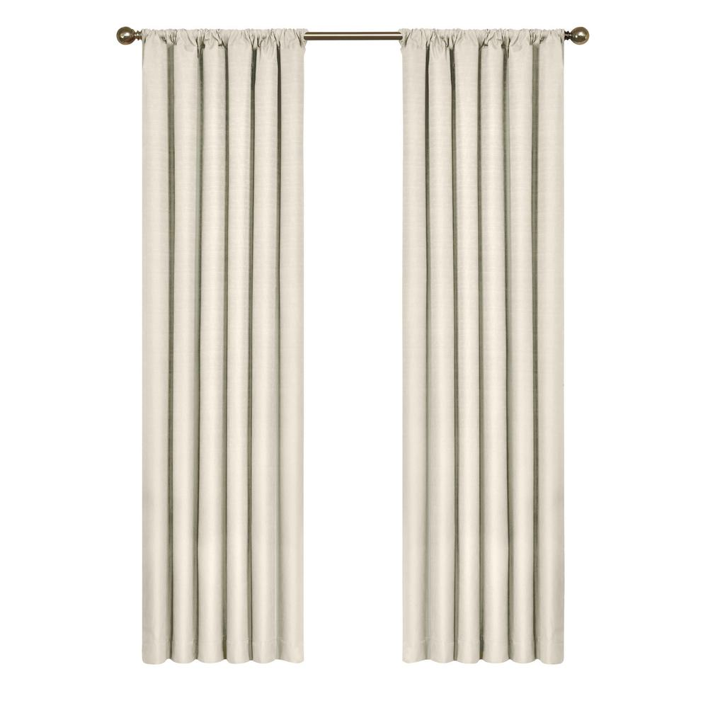 Eclipse Kendall Blackout Window Curtain Panel In Ivory