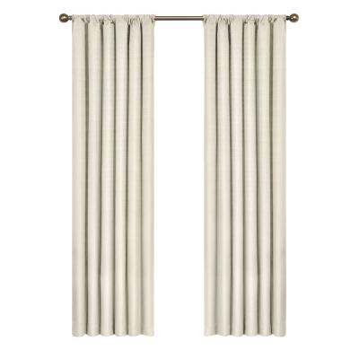Kendall Blackout Window Curtain Panel in Ivory - 42 in. W x 95 in. L