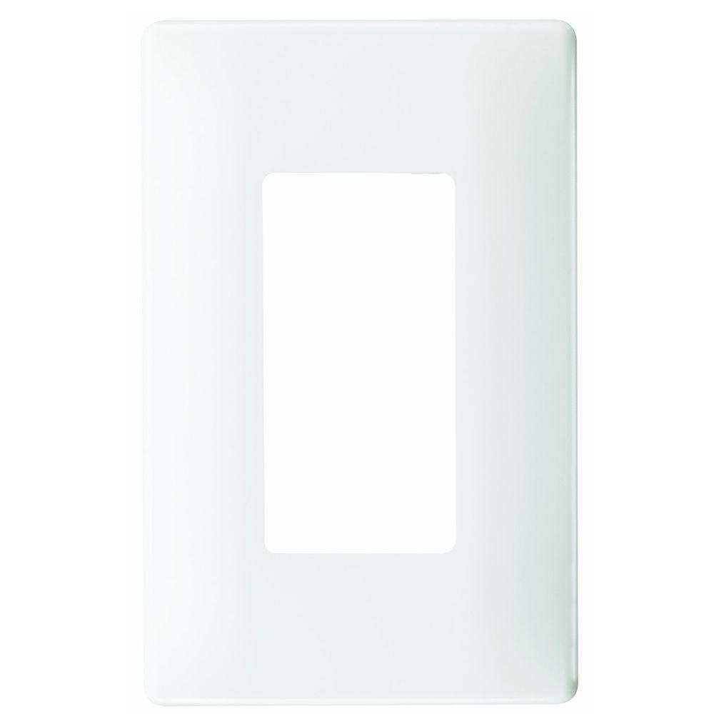 1-Gang Screwless Decora Wall Plate - White