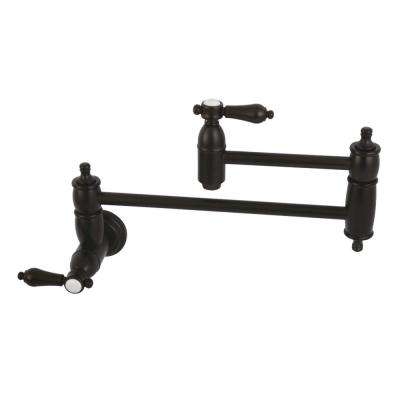 Heirloom Wall-Mounted Potfiller Lever Handle in Oil Rubbed Bronze