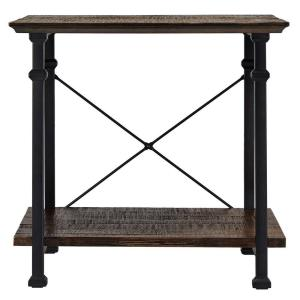 Grove Place Distressed Cocoa Console Table