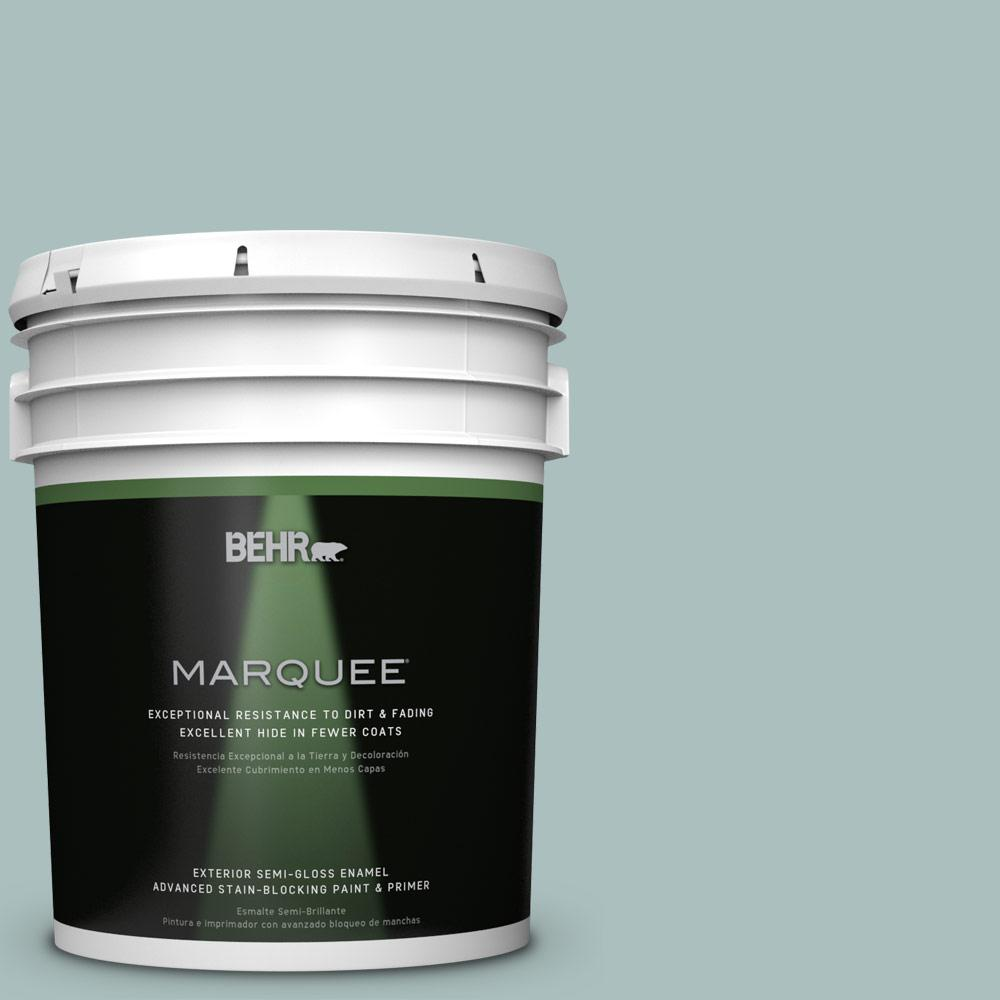 5 gal. #HDC-CL-15G Morning Parlor Semi-Gloss Enamel Exterior Paint