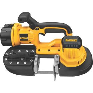 Click here to buy Dewalt 18-Volt NiCd Cordless Band Saw with Battery 2.4Ah, 1-Hour Charger and Contractor Bag by DEWALT.