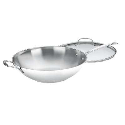 Stainless Steel 14 in. Stir-Fry Pan
