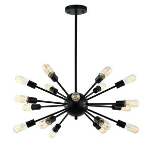 HomeDepot.com deals on Light Society Sputnik Style Black Chandelier