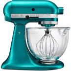 Artisan Designer 5 Qt. 10-Speed Sea Glass Stand Mixer with Glass Bowl
