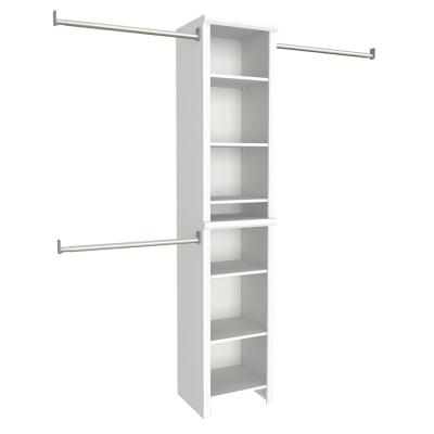 Impressions 14.57 in. D x 16.97 in. W x 82.46 in. H White Narrow Laminate Closet System Kit