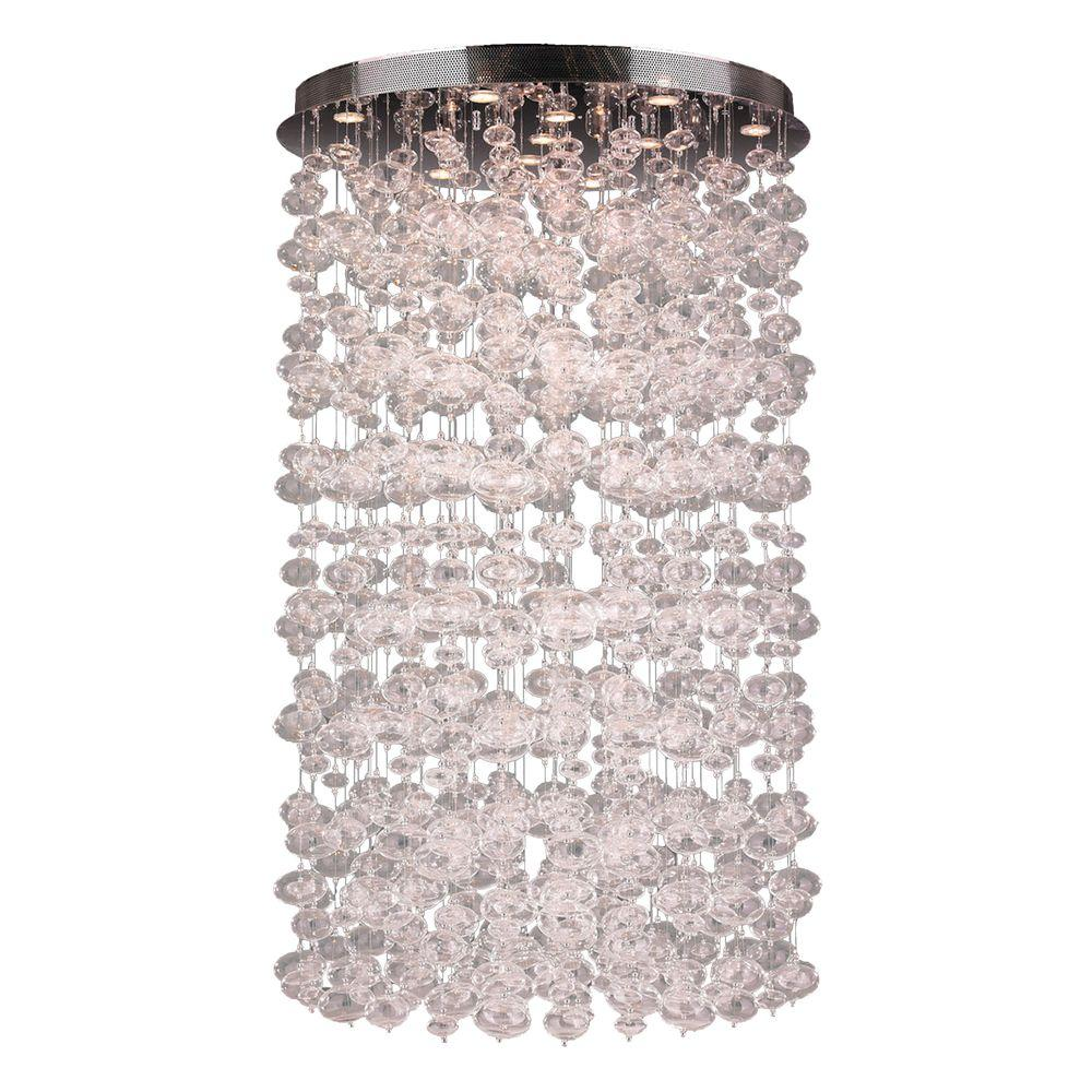 Worldwide lighting effervescence collection 13 light clear blown worldwide lighting effervescence collection 13 light clear blown glass bubble flushmount w33153c36 the home depot aloadofball Choice Image