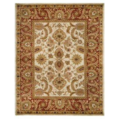 Classic Ivory/Red 5 ft. x 8 ft. Area Rug
