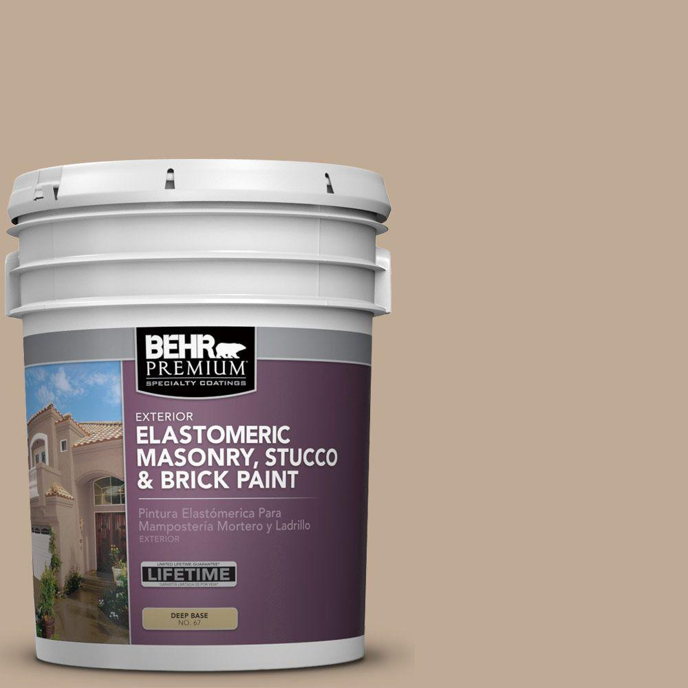 5 gal. #MS-23 Sequoia Elastomeric Masonry, Stucco and Brick Exterior Paint