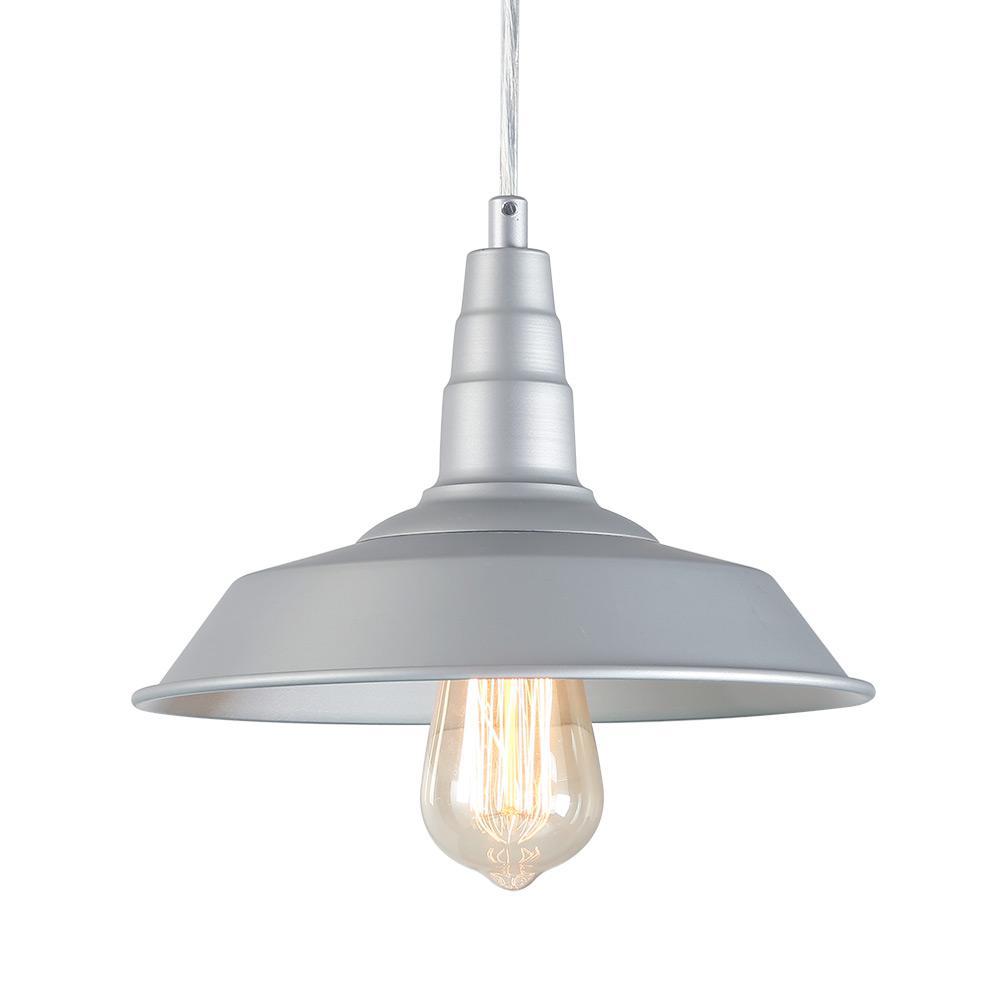 LNC 1-Light Silver Indoor Farmhouse Pendant