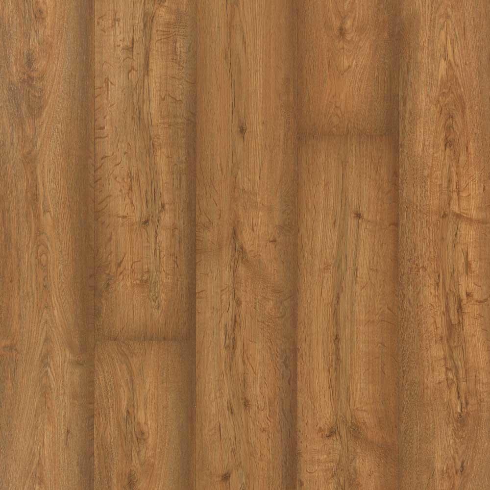 Burnished Caramel Oak Laminate Flooring - 5 in. x 7 in. Take Home Sample