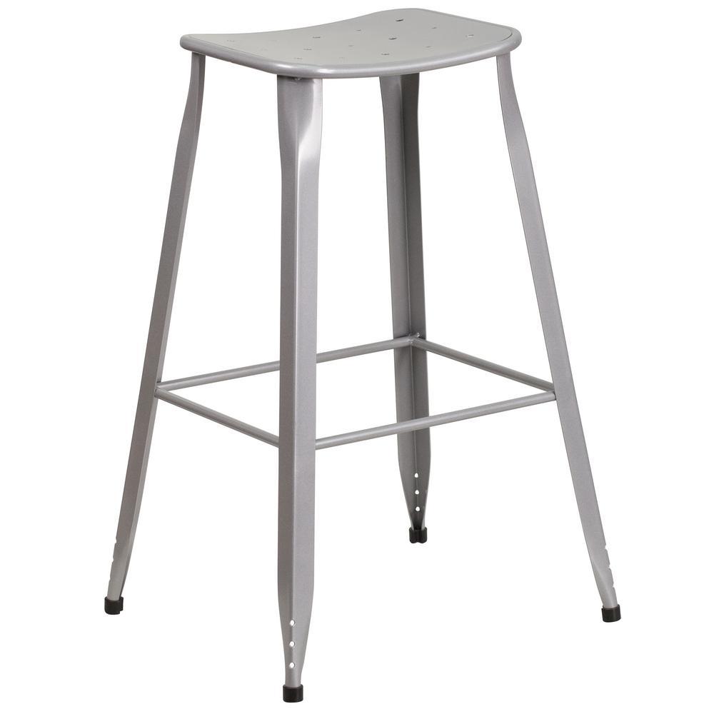 Silver bar stool