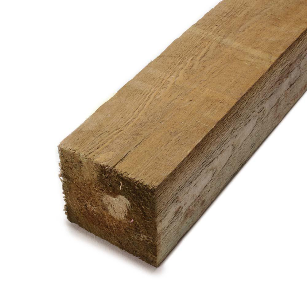 6 in. x 6 in. x 8 ft. Rough Pressure-Treated Timber