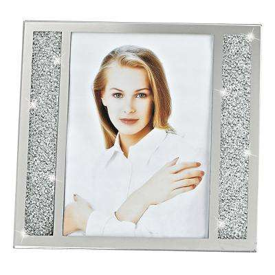 Lucerne Crystalized Glass 5 in. x 7 in. Photo Frame