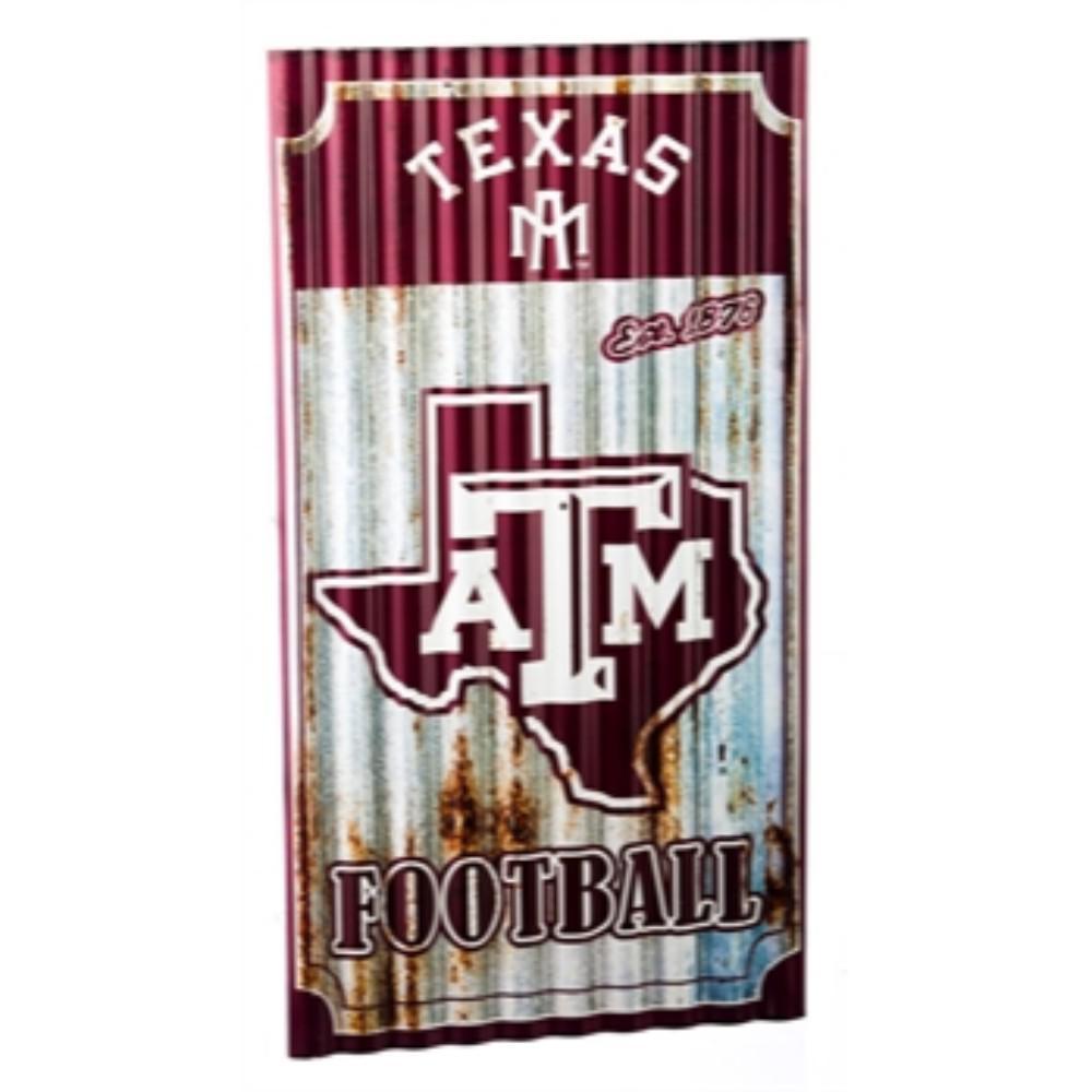Texas A&M University NCAA Corrugated Metal Indoor/Outdoor Wall Art