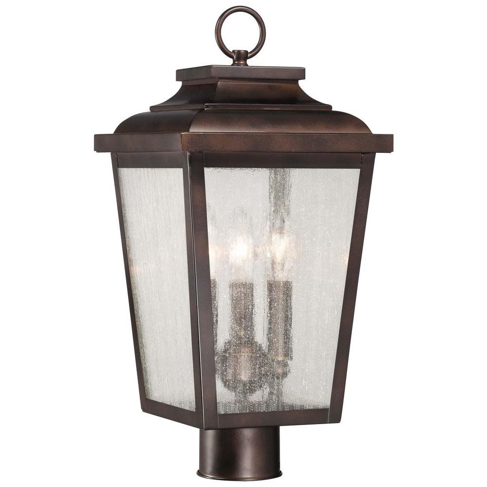 The Great Outdoors By Minka Lavery Irvington Manor 3 Light Chelsea Bronze Outdoor Post Mount