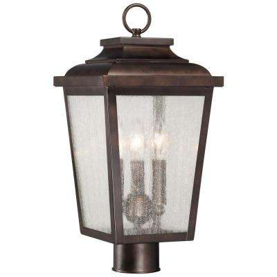 Irvington Manor 3-Light Chelsea Bronze Outdoor Post Mount