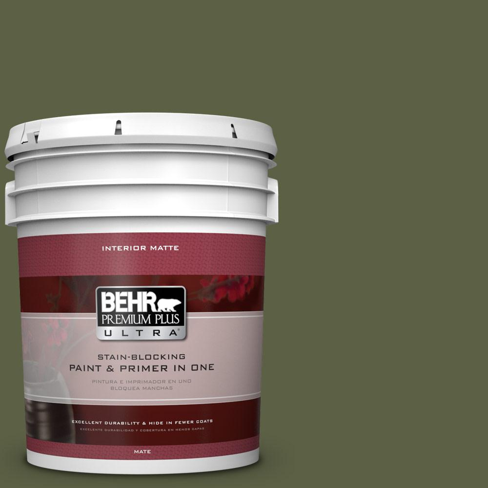BEHR Premium Plus Ultra 5 gal. #S360-7 Down to Earth Matte Interior Paint
