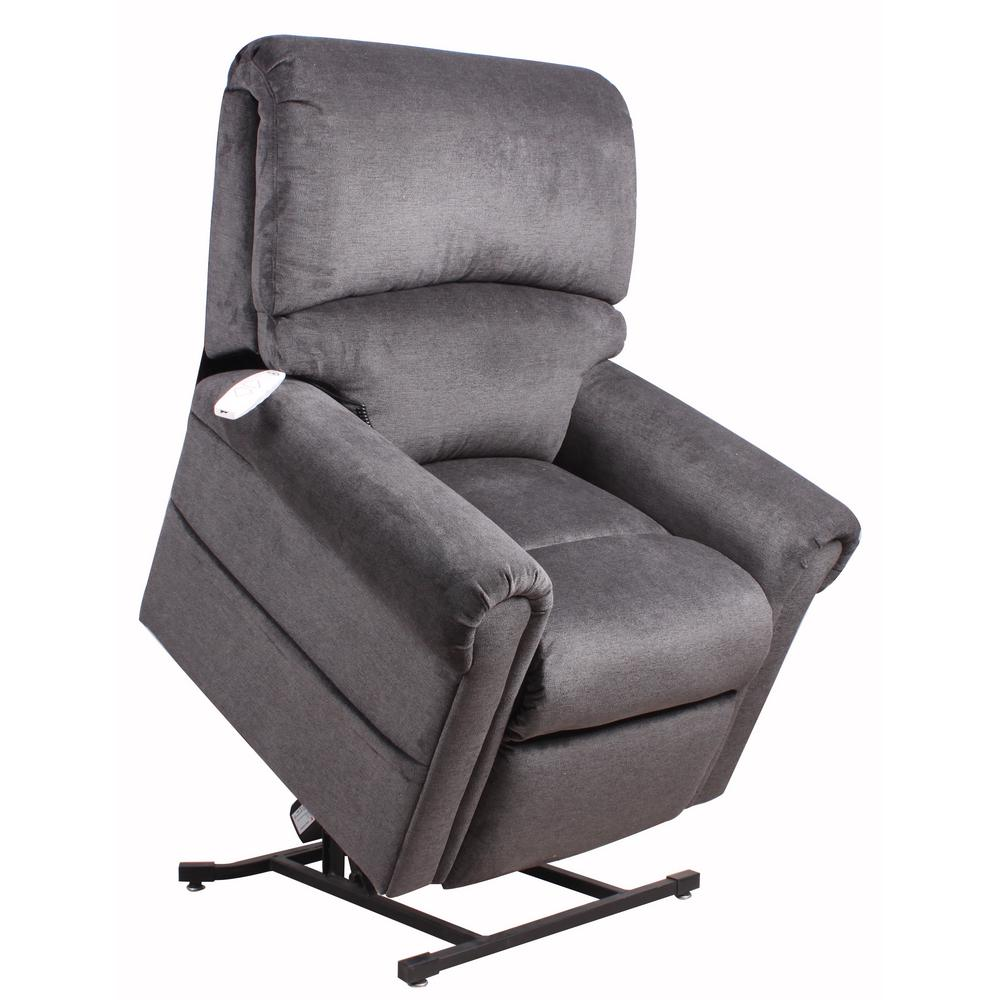Serta Northwood Polo Club Power Recliner Lift Chair in Grey, Polo Club Kohl Build a comfortable living room design using the Serta Recliner. This recliner has a classic style, focusing more on smaller details to bring your home to life. It has a stain-resistant construction, which makes it perfect for everyday use. This recliner has fabric materials, providing your home with a traditional appearance and it also features polyester upholstery, which resists shrinking and stretching, making it a very durable piece of furniture. It has a power recliner and USB ports, so you can efficiently charge your electronics without having to get up. Color: Polo Club Kohl.