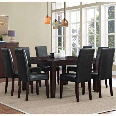 Acadian 9 Piece Midnight Black Dining Set