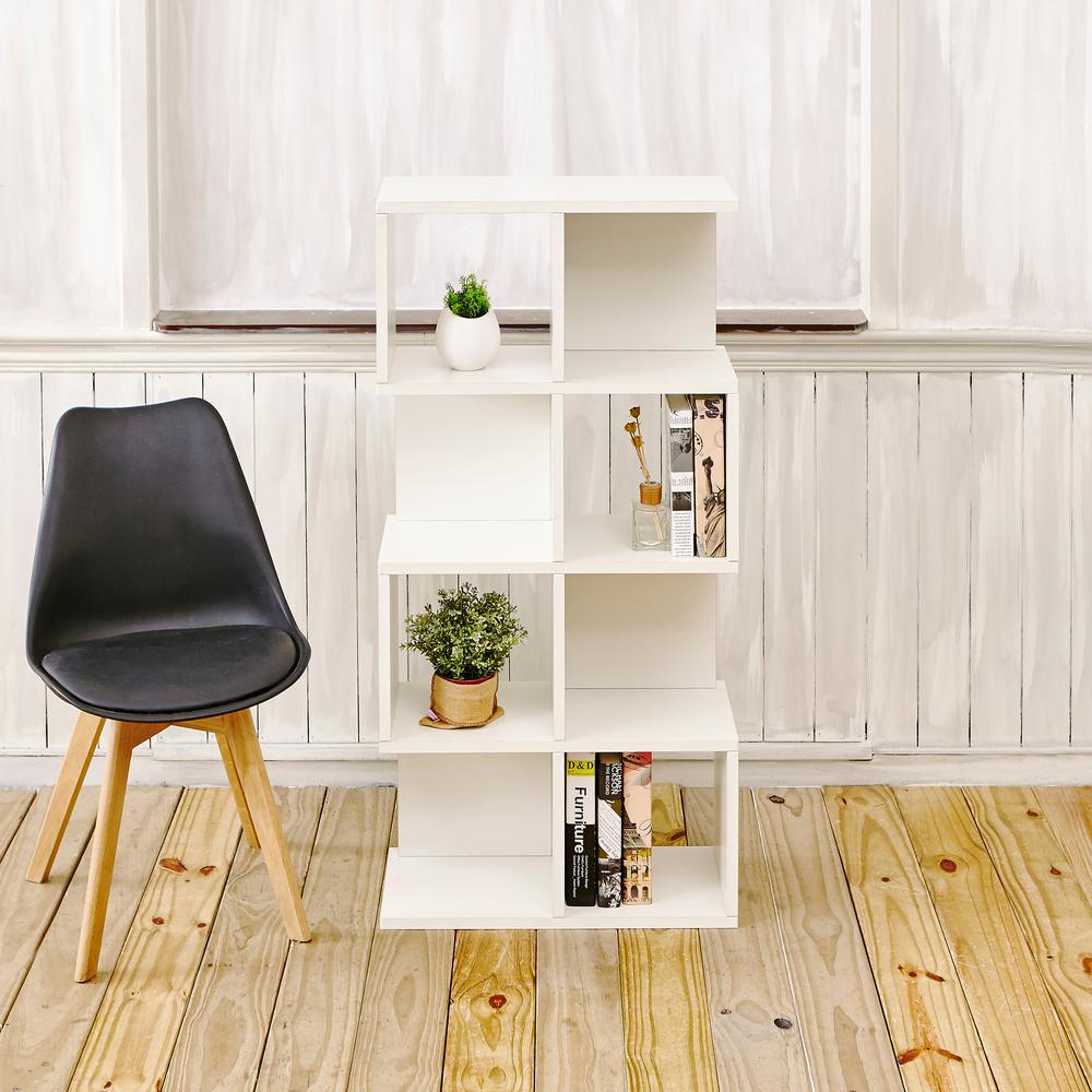 Way Basics Malibu Eco zBoard Tool Free Assembly White Open Bookcase