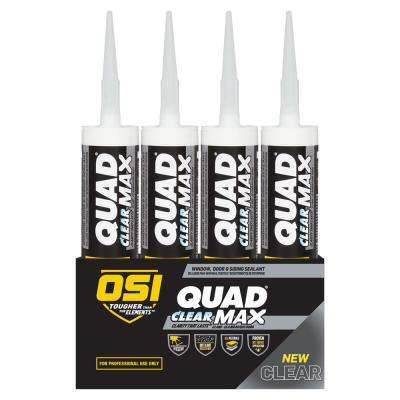 QUAD MAX Clear 9oz Window Door and Siding Sealant (12-Pack)